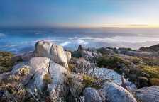 Hobart from Mt. Wellington, Tasmania